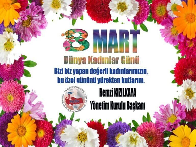 8 Mart Dünya Kadınlar Günü Kutlu Olsun…
